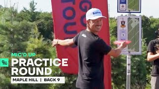 Uli refuses to learn from his mistakes on the Back 9 at Maple Hill | Mic'd Up Practice Round | Jomez