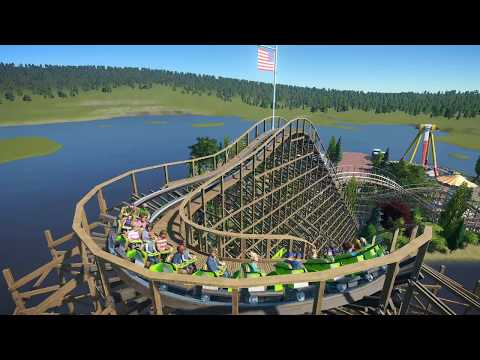 (Planet Coaster) BushFire - GCI Wooden Coaster
