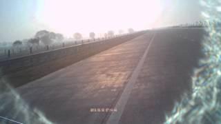 Biking at  Yamuna Express Way Delhi to Agar Highway parallel to National Highway NH-2 India