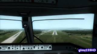 Hard Crosswind Landing at Zurich - EMB 190 Swiss (Flight Simulator X - FSX)