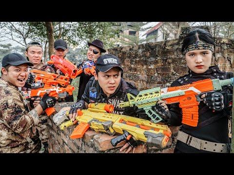 LTT Nerf War : Couple SEAL X Warriors Nerf Guns Fight Crime Group Dr.Lee Crazy [ Can't Fail ]