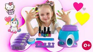 Маникюр в домашних условиях SUPER КСЮ выбирает дизайн ногтей и делает маникюр
