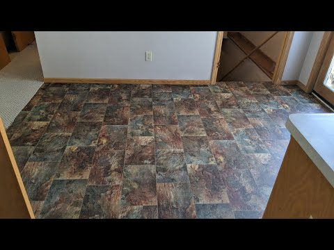Day One New Linoleum Through Home Depot Youtube