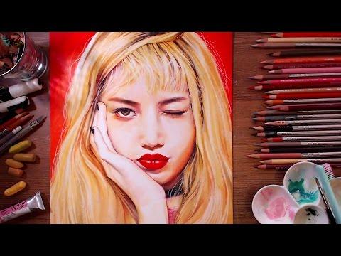 BLACKPINK : Lisa - Speed Drawing   Drawholic