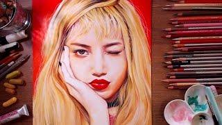 BLACKPINK : Lisa - speed drawing | drawholic