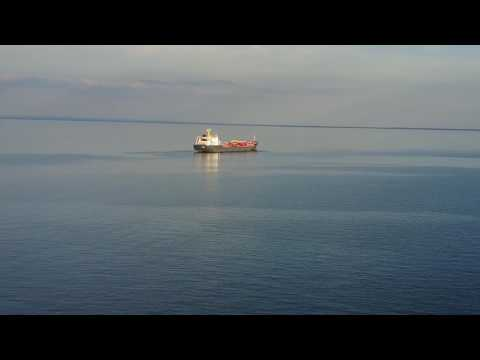 Mavic Pro Ship Flyby 1 Mile Offshore