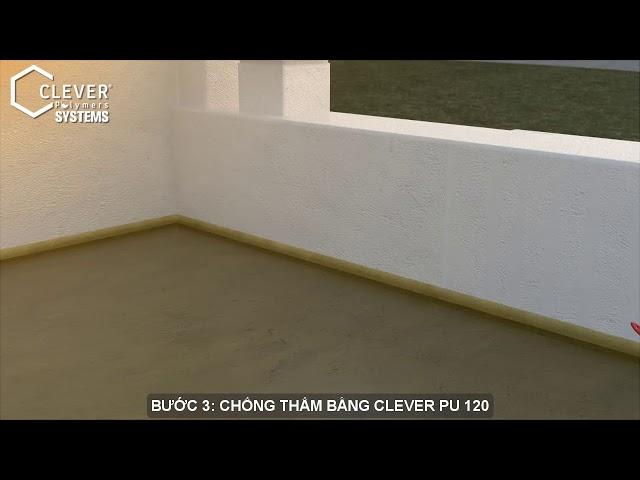 Cách chống thấm sàn mái sân thượng  bằng clever 120 bt vietsub