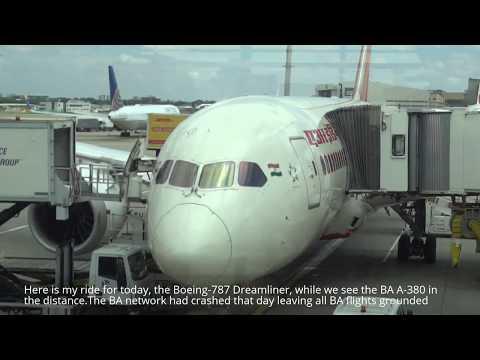 Air India 130 London Heathrow to Mumbai Boeing-787 flight experience