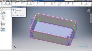 Видеоурок 02. Построение 3D модели пластиковой коробки в AutoCad Invertor