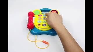 (전화기) 영어공부 동요 누르는 아기 전화기 장난감