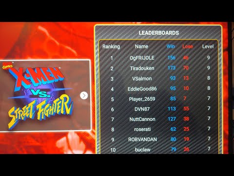 X-Men vs Street Fighter (Arcade 1up) #1 OgFRIJOLE VS #2 Tiradouken on the Leaderboard online play from Footie Laughs