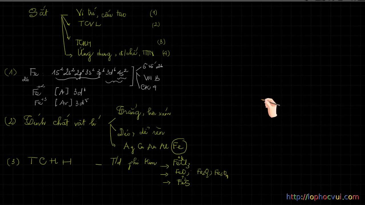 Hóa học 12   Chương 7   Bài 40   Sắt