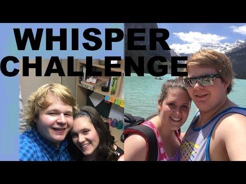 WHISPER CHALLENGE WITH MY GIRLFRIEND!!