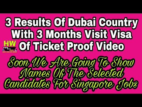 Results Of Dubai, Visa-Ticket Proof, 47-Singapore Names Show Plan - 2018