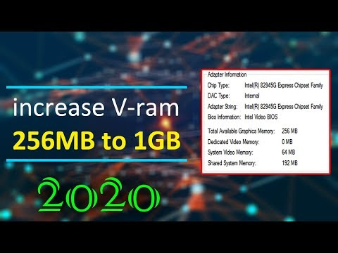 Mobile Intel R Graphics Vram Increase 256 To 1GB Windows 10 New Method 2020