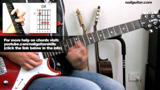Na Na Na ♫ MCR Electric Guitar Lesson (My Chemical Romance) Cover