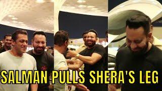 FUNNY VIDEO: Salman Khan pulls bodyguard Shera's leg in PUBLIC