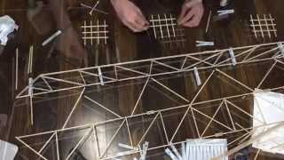 Building Of A Balsa Wood Bridge (time-lapse)