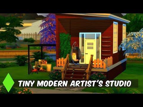 TINY MODERN ARTIST'S STUDIO //THE SIMS 4//