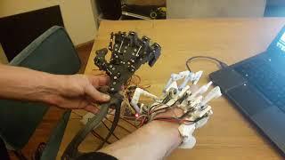 Potentiometer glove to control servo