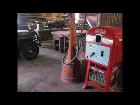1920's Visible gas pumps and traffic signal for sale