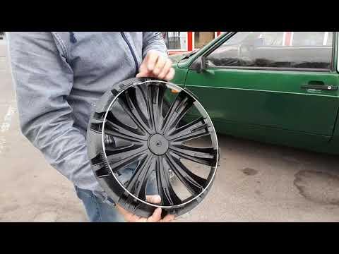 Как поставить колпаки на штампованные диски