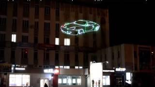 VLT - всепогодный лазерный проектор для рекламы  ( лазерная реклама )