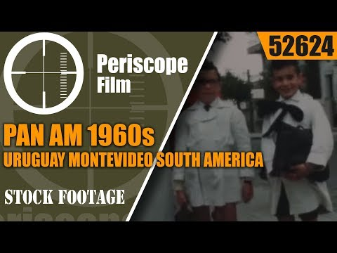 PAN AM 1960s  URUGUAY MONTEVIDEO SOUTH AMERICA TRAVELOGUE 52624