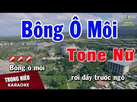 Karaoke Bông Ô Môi Tone Nữ Nhạc Sống | Trọng Hiếu