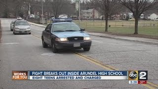 Teens arrested following fight at Arundel High School
