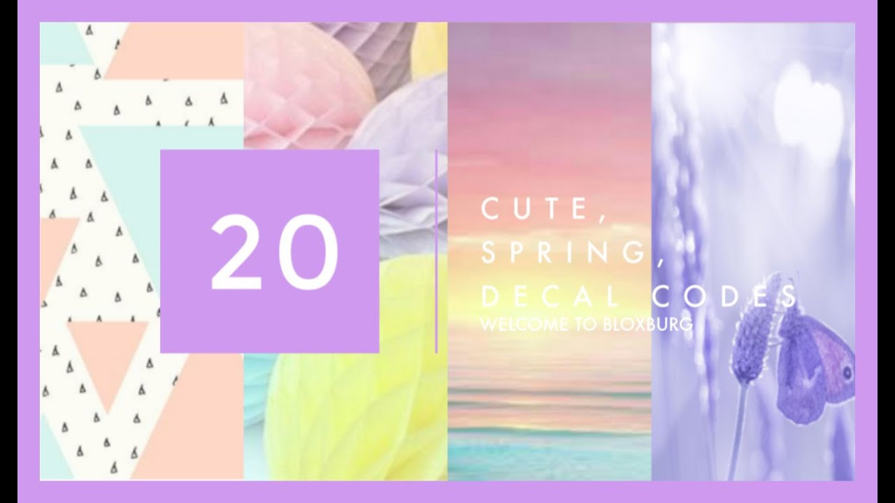 Kawaii Decal Codes For Roblox 20 Bloxburg Pastel Springtime Decal Id S Codes In Description Youtube