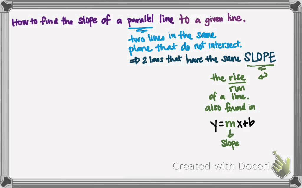 Find the slope of a parallel line youtube find the slope of a parallel line ccuart Images