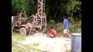 Life In My Thailand, Rural Isaan - Rice farm drilling for water in the jungle of Isaan