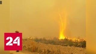 'Погода 24': пожарным из Канады пришлось сразиться с 'чудовищем' - Россия 24