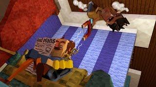 Minecraft   Hello Neighbor - SECRET MAGNET GUN FOUND! (Hello Neighbor in Minecraft)