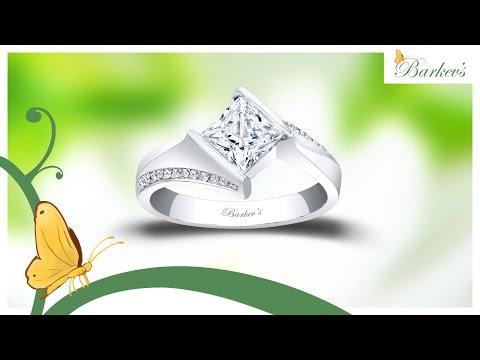 Unique Princess Cut Engagement Ring