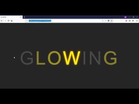 4. Glow Any Text Using CSS & HTML | No Javascript | Ravi Raushan