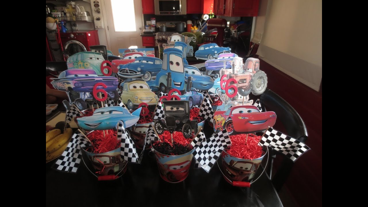 Cars Centerpieces YouTube