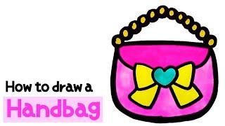 리본 핸드백 그리기_Handbag drawing and…