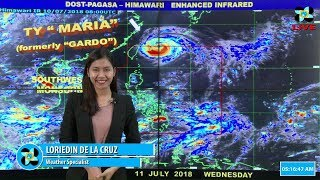 Public Weather Forecast Issued at 4:00 AM July 11, 2018