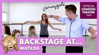 Matilda cast learn ballroom dancing with Rebecca Thornhill
