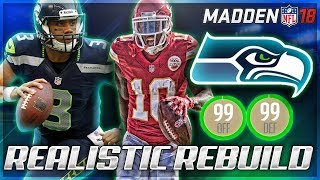 Rebuilding The Seattle Seahawks | HIGHEST OVERALL IN REBUILD HISTORY! | Madden 18 Franchise 2017 Video