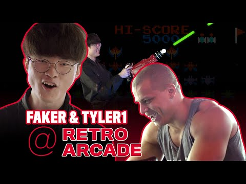 T1 Faker And Tyler1 Play Old Arcade Games
