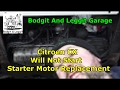 1979 Citroen CX Will Not Start Starter Motor Replacement Bodgit And Leggit Garage
