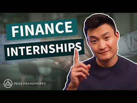 How to get a Finance Internship