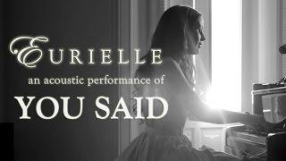 Eurielle You Said Live Acoustic Version.mp3