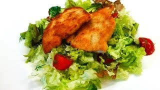 Turkey steaks in breadcrumbs, easy recipe (cooking time 25 minutes)