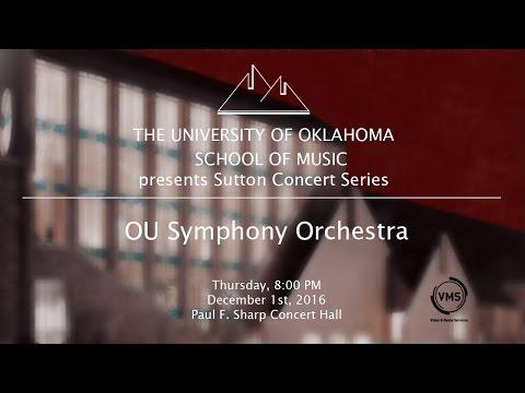 OU Symphony Orchestra, December 1st, 2016