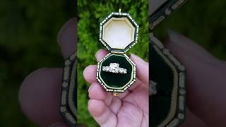Coral Glass Antiques Antique Art Deco Diamond Engagement Ring