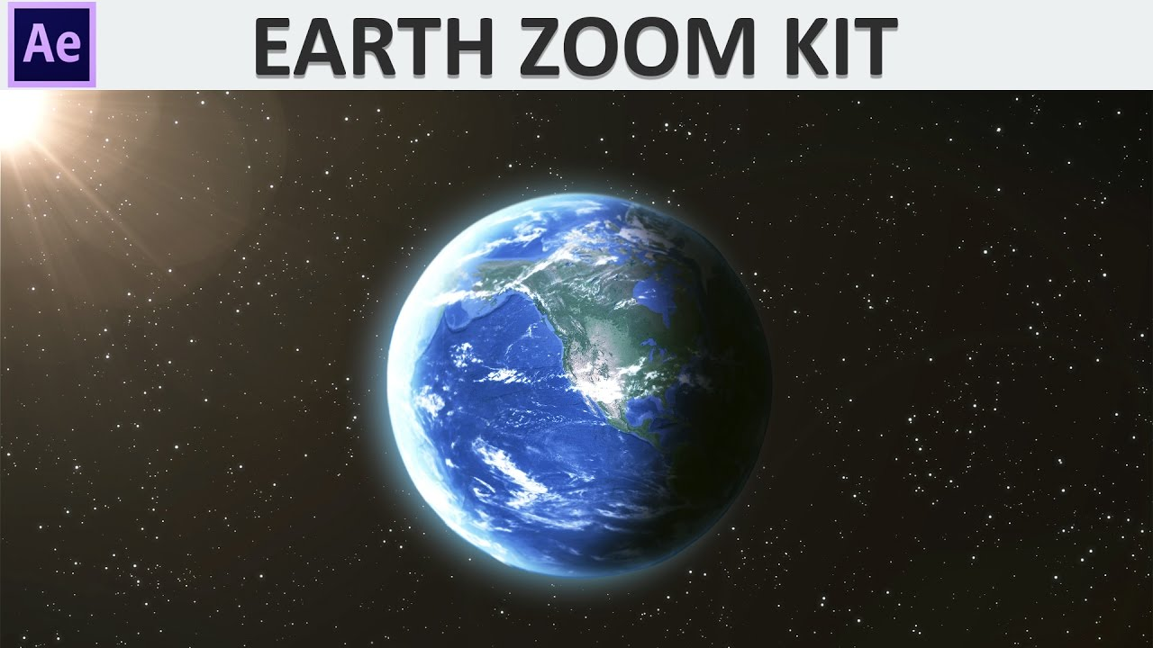 After Effects Earth Zoom Kit